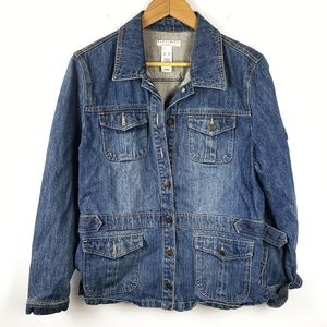 Vintage Liz Claiborne | Crazy Horse Jean Jacket XL